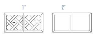 Wersje blatów stół prostokątny